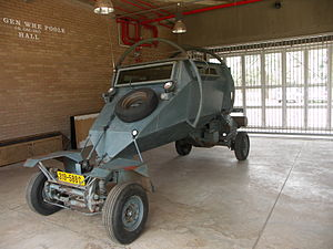 A Leopard security vehicle