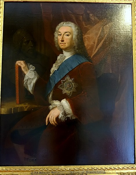 File:Richard Boyle, 3rd Earl of Burlington, with Bust of Inigo Jones, by George Knapton, 1743, oil on canvas - West Sketch Gallery, Chatsworth House - Derbyshire, England - DSC03293.jpg