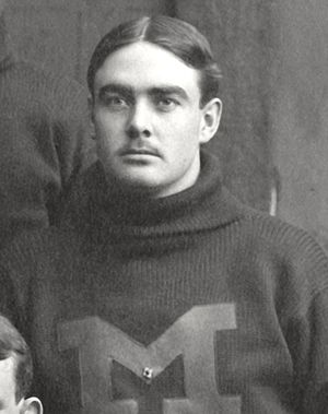 Richard France - Photograph of Richard France cropped from 1899 Michigan team photograph