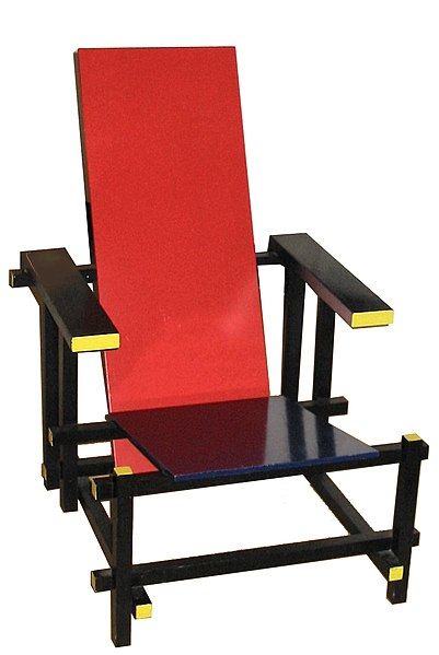 Red and Blue Chair designed by Gerrit Rietveld, 1917