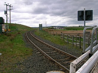 New Cumnock - Rigghead Opencast rail link near New Cumnock.