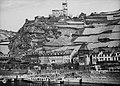 Rijnvaart, reportage vanaf sleepboot Damco 9 West-Duitsland. Gezicht op Kaub me, Bestanddeelnr 254-6416.jpg