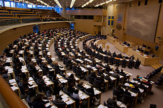 Riksdag - The Swedish parliament voting in February 2009.