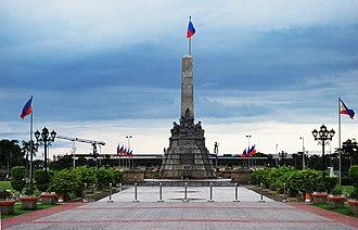 Rizal Monument - Back view of the monument