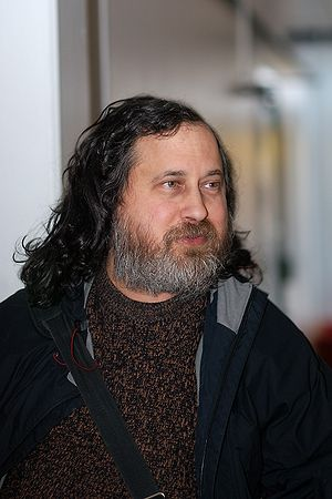 English: Richard Stallman, taken at the Univer...