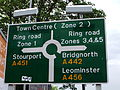 Road sign, Comberton Hill, Kidderminster - DSCF0998.JPG