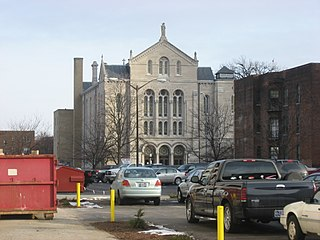 Roberts Park Methodist Episcopal Church church building in Indianapolis, United States of America