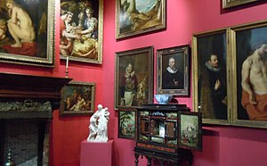 Rockox House - interior, right Rockox on The Incredulity of Saint Thomas (Rubens)