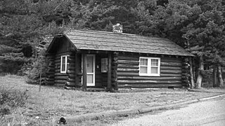 Roes Creek Campground Camptenders Cabin Cabin in Glacier National Park, an example of the National Park Service Rustic style