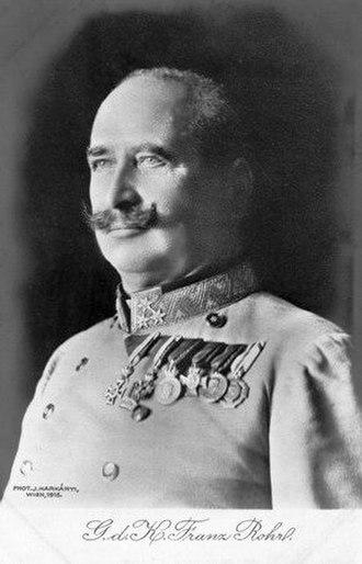 Franz Rohr von Denta - Image: Rohr Franz 1865 1927 Gdk Austria 1911