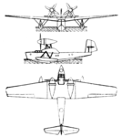 Rohrbach Rostra 3-view Le Document aéronautique January,1929.png