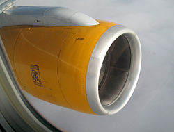 Rolls royce engine on boeing 757-300.JPG