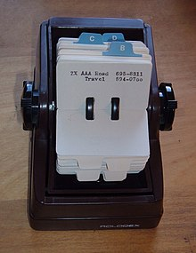 Rolodex Wikipedia