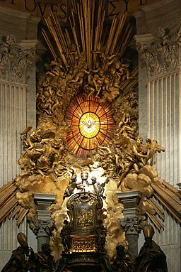 Rom, Vatikan, Petersdom, Cathedra Petri (Bernini) 2