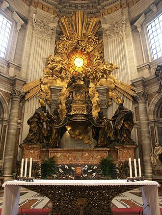 Chair of Saint Peter - Image: Rom, Vatikan, Petersdom, Cathedra Petri (Bernini) 4