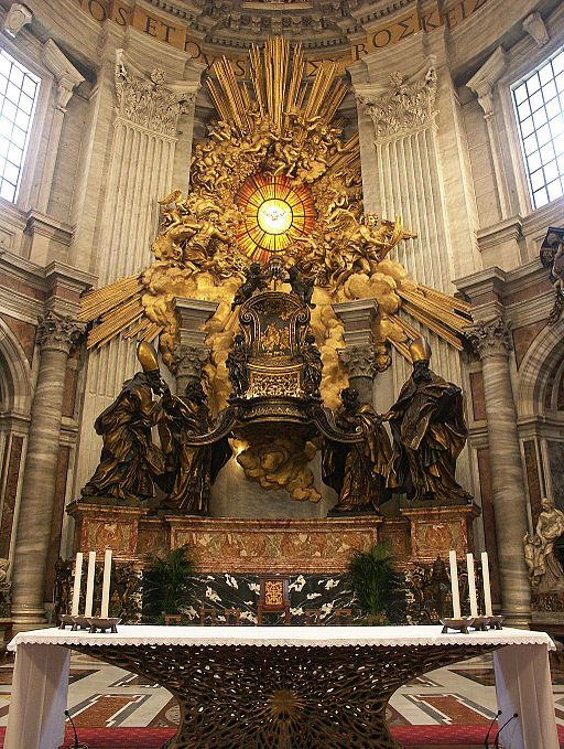 Rom, Vatikan, Petersdom, Cathedra Petri (Bernini) 4