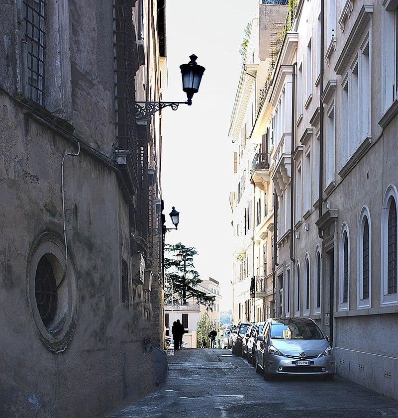 Rom, die Straße Via delle Sette Sale, Westteil .jpg