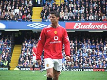 b2ba9738829 Ronaldo playing against Chelsea in the Premier League during his third  season in England