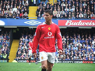 Cristiano Ronaldo - Ronaldo playing against Chelsea in the Premier League during his third season in England