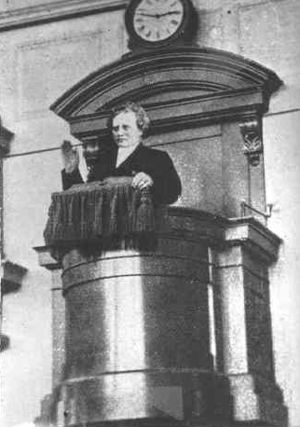 Carl Olof Rosenius preaching in Betlehemskyrka...