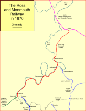 Ross and Monmouth Railway - System map of the Ross and Monmouth Railway