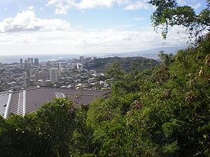Tantalus-Round Top Road - Image: Round Top Dr looking Ewa