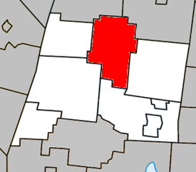 Location within La Haute-Yamaska Regional County Municipality.