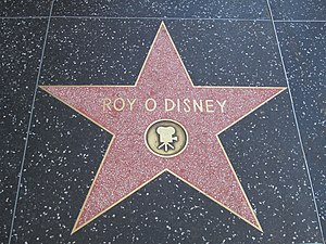 Roy O. Disney - Roy O. Disney's star on the Hollywood Walk of Fame