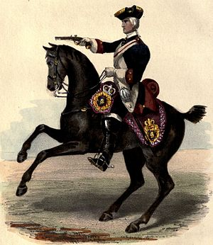 Royal Horse Guards - Trooper of the Royal Horse Guards in 1742