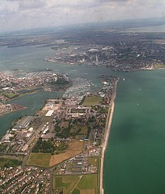 Royal Naval Hospital Haslar to Historical Dockyard- aerial 2014 (geograph 4036123).jpg