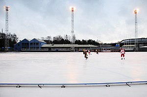 Oskarström - The bandy team playing in Gothenburg
