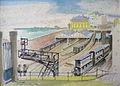 Rudolf Heinisch, Landschaftsskizze - St. Germain-en-Laye - Der Bahnhof, 1927.JPG