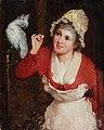 Rudolf Wimmer - Girl Feeding a Parrot.jpg