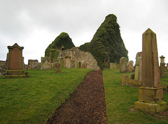Prestwick - The old ruined church of St Nicholas