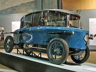 Automobile drag coefficient - Edmund Rumpler's 1921 Tropfenwagen was the first series-produced aerodynamically designed automobile, before the Chrysler Airflow and the Tatra 77.