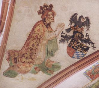 Rupert, King of Germany - Contemporary painting in the collegiate church of Neustadt an der Weinstraße