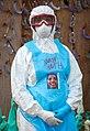 Ruth Johnson, RN, wearing PPE Portrait, ELWA 2 Ebola Treatment Unit, Paynesville, Liberia, March 6, 2015.jpg