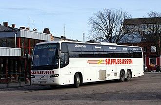 Nettbuss express - Säfflebussen route 100 in Karlstad in 2008.