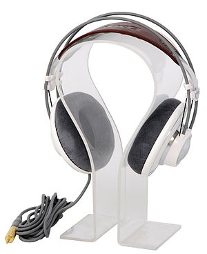 Headphones - Headphones on a stand