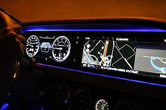 Electronic instrument cluster - High resolution digital dashboard in Mercedes-Benz S-Class (W222) S63 AMG
