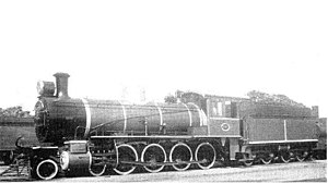 South African Class 8 4-8-0 - Image: SAR Class 8 1087 (4 8 0) CGR 778