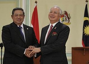Indonesia–Malaysia relations - President Yudhoyono and Prime Minister Najib Razak in Putrajaya.