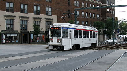 SEPTA's 101 trolley pulling into 69th Street Terminal near Philadelphia SEPTA Light Rail.jpg