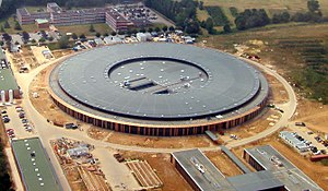 Modern industrial-scale synchrotrons can be very large (here, Soleil near Paris)