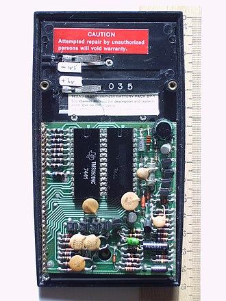 TI SR-50 - Printed circuit board. Data code 035: 3rd week 1975