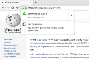 HTTPS - Image: SSL Certificate Info Box In Firefox
