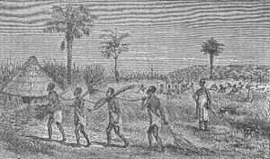Slaves in eastern Africa - illustration from late 19th century)