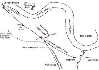 London and Croydon Railway - Railways in South East London in 1840