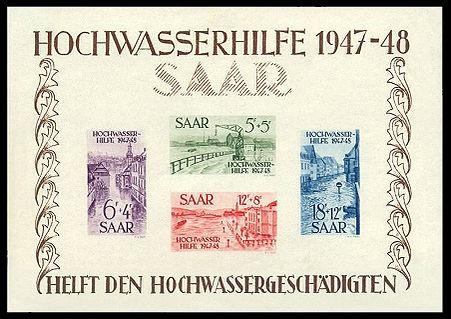 Briefmarken Jahrgang 1948 Des Saarlandes Wikipedia