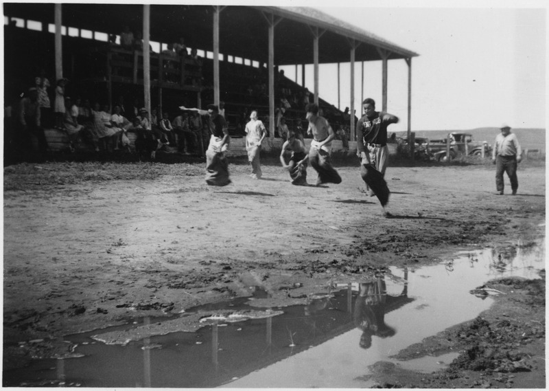 File:Sack race following the rain - NARA - 285890.tif